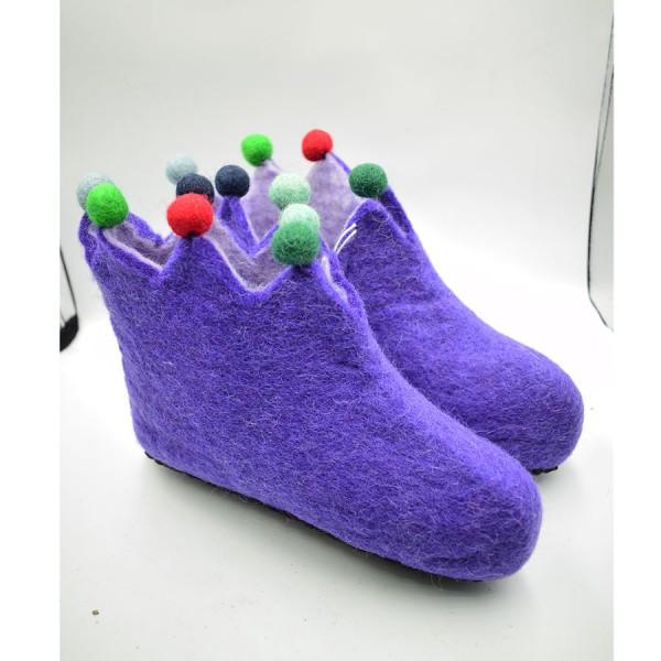 Felt shoe Purple.