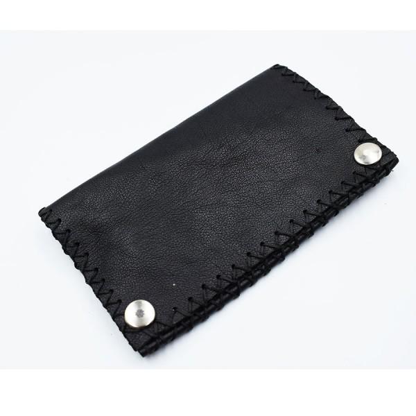 Black tobacocase leather