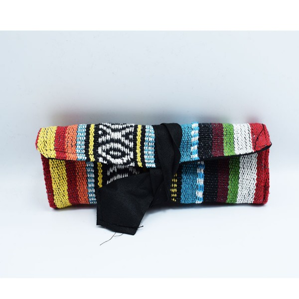 Multicolor  tobacocase with cord