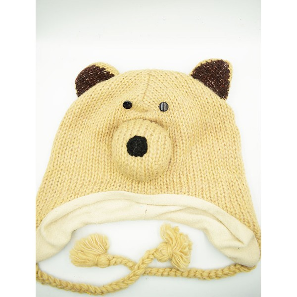 Bear   Woollen Hat
