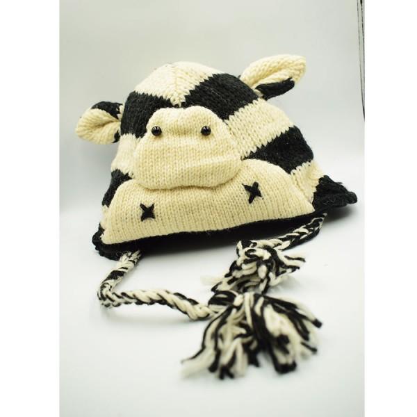 Black and White bear  Woollen Hat