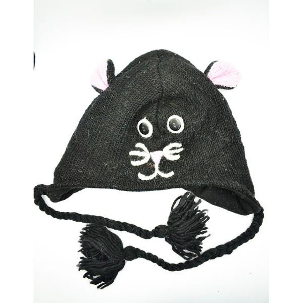 Black Cat  Woollen Hat