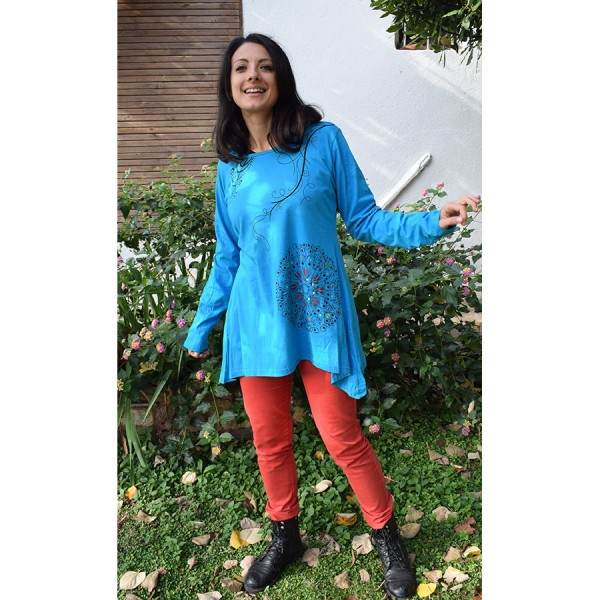 Light blue cotton blouse