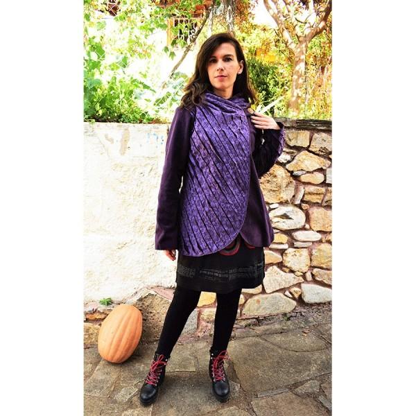 Purple short Jacket