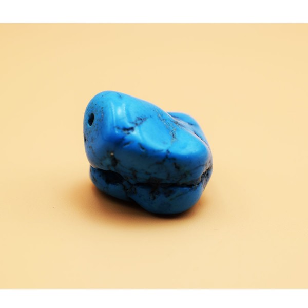 Small turquoise blue pebble crystal