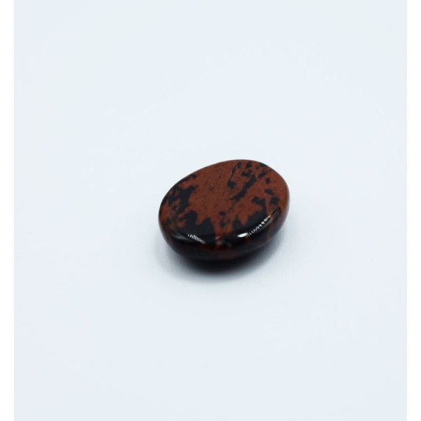 Crystal Obsidian Red Black Oval.