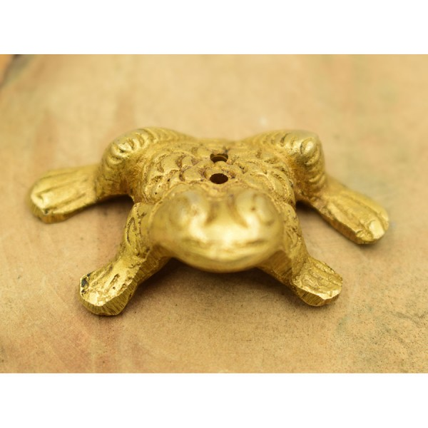 Miniature Frog Brass Base for Stick Indian
