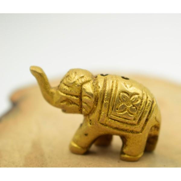Miniature Elephant small Brass  Stick Indian