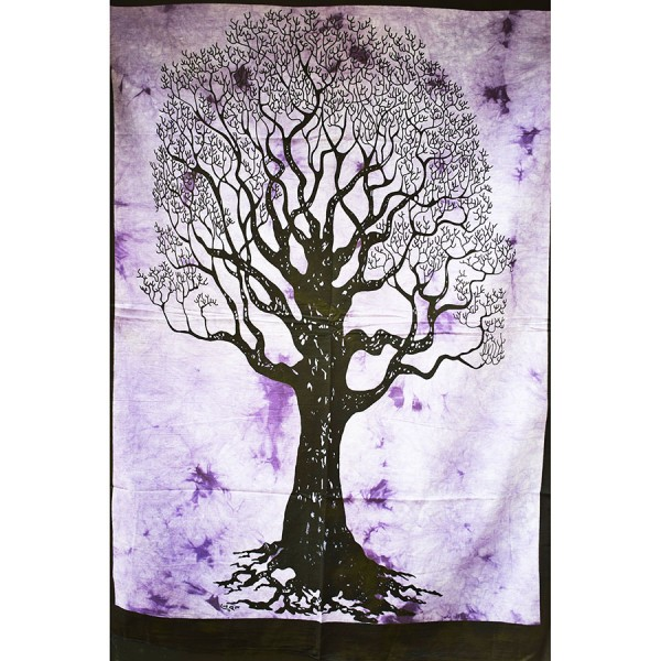 Purple small life tree wall cloth