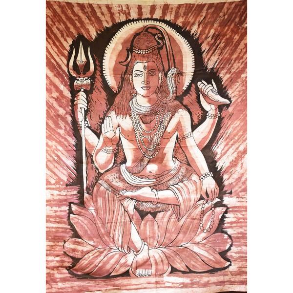 Brown Shiva brown wall cloth