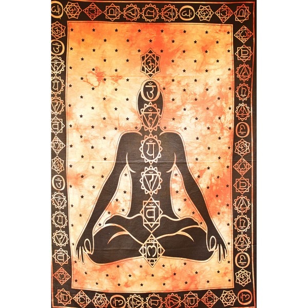 Wall cloth with chakras orange small