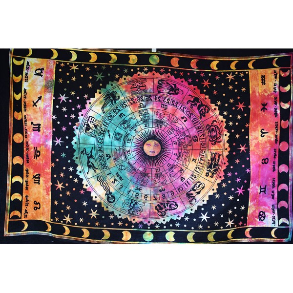 Wall cloth multicolored small zodiac sign