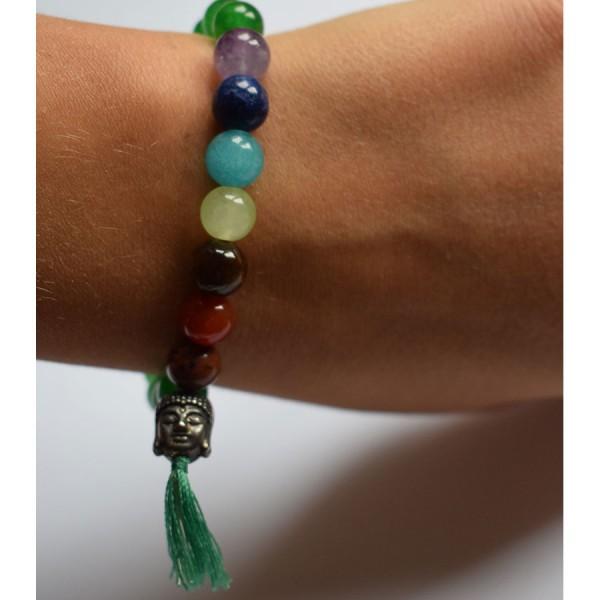 Green Agate Chakra Bracelet