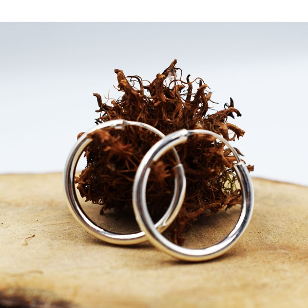 Rings Earrings Silver forth  size.