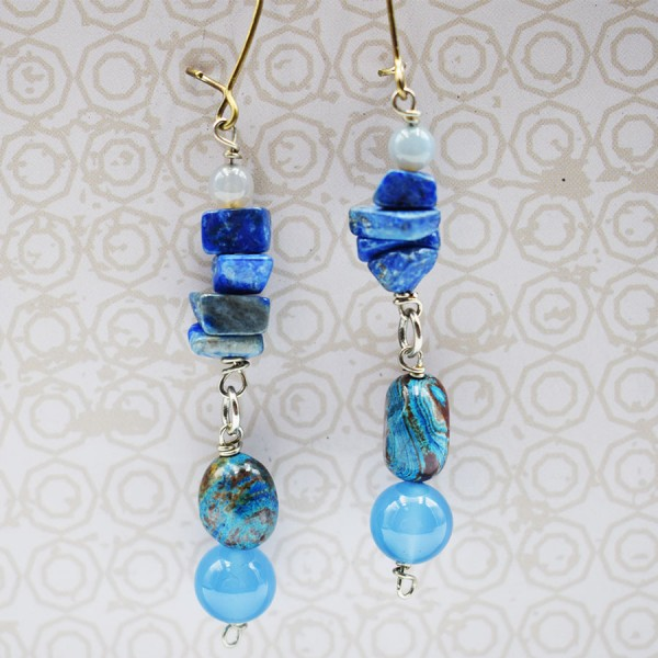 Handmade lapis lazuli earrings away